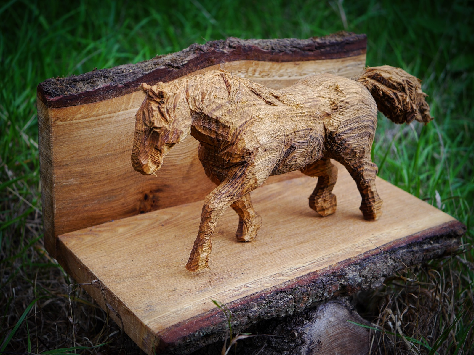 Carving of a New Forest Pony carved by Neith Chainsaw Carving Artists
