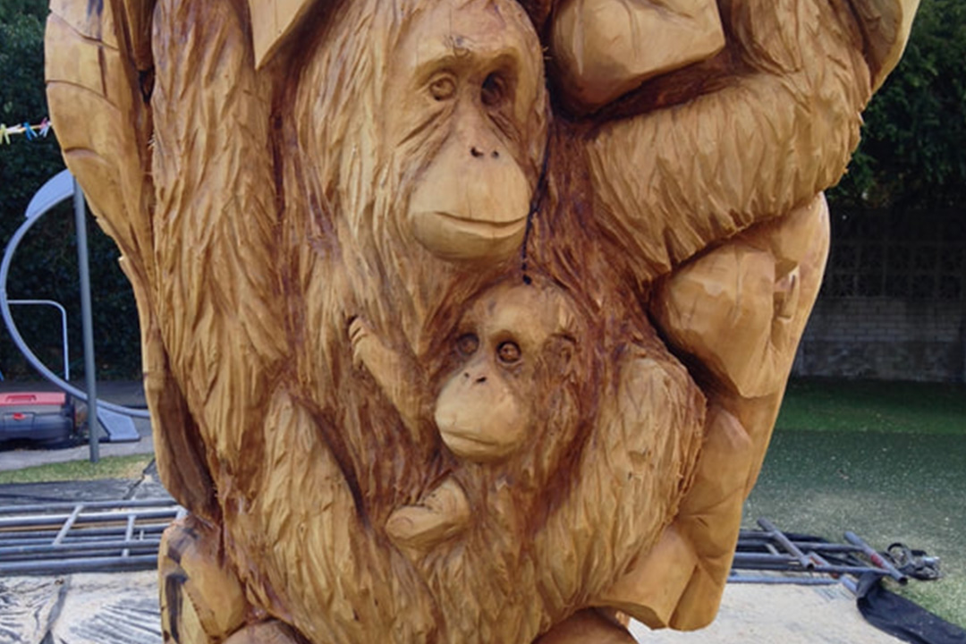 A Rainforest Tree carved by Neith Chainsaw Carving Artists