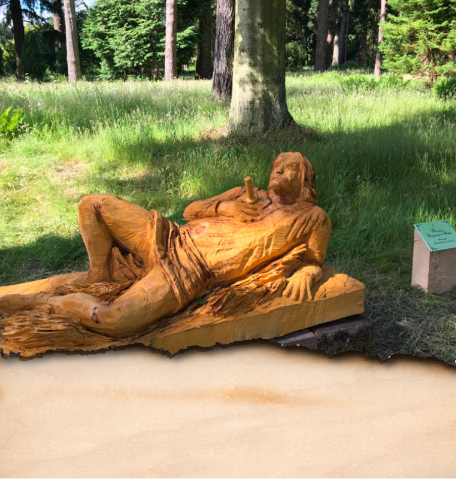Bacquo from Macbeth carved by Neith Chainsaw Carving Artists