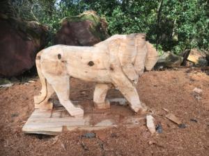 Progress shot of The Lion King Memorial Bench
