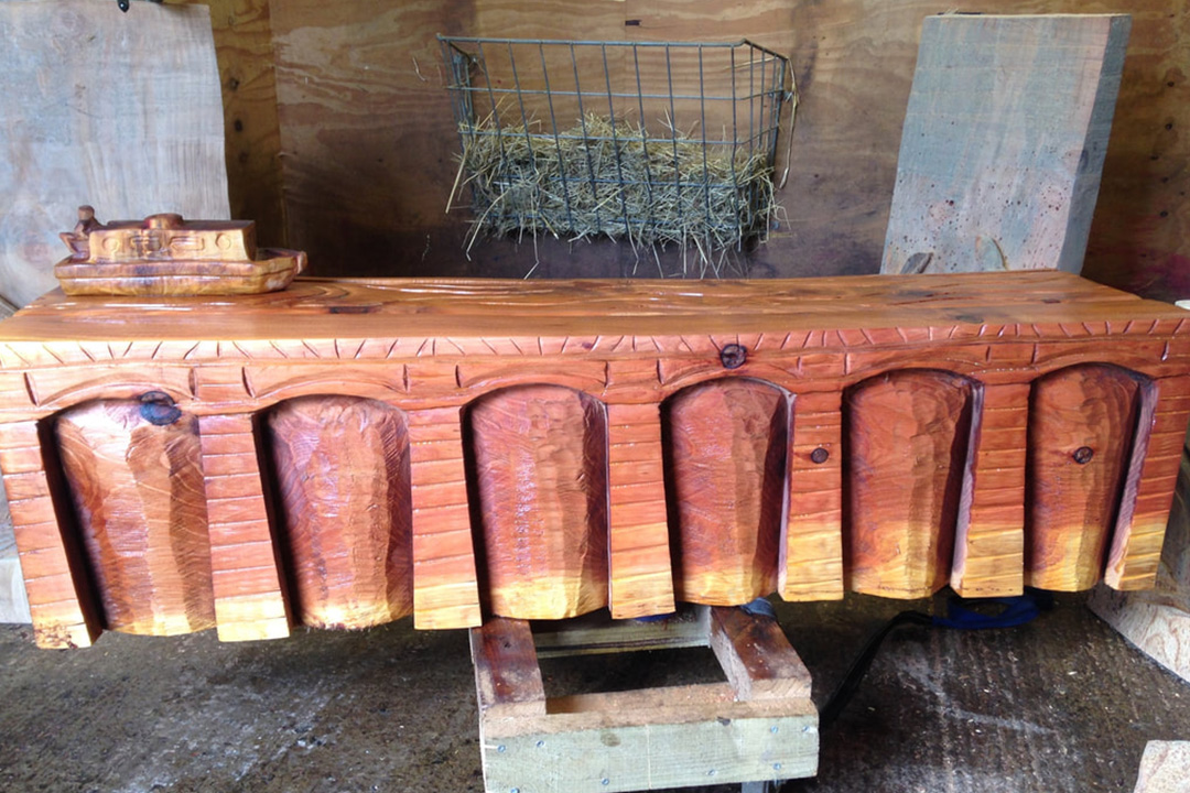 Viaduct Bench Carving