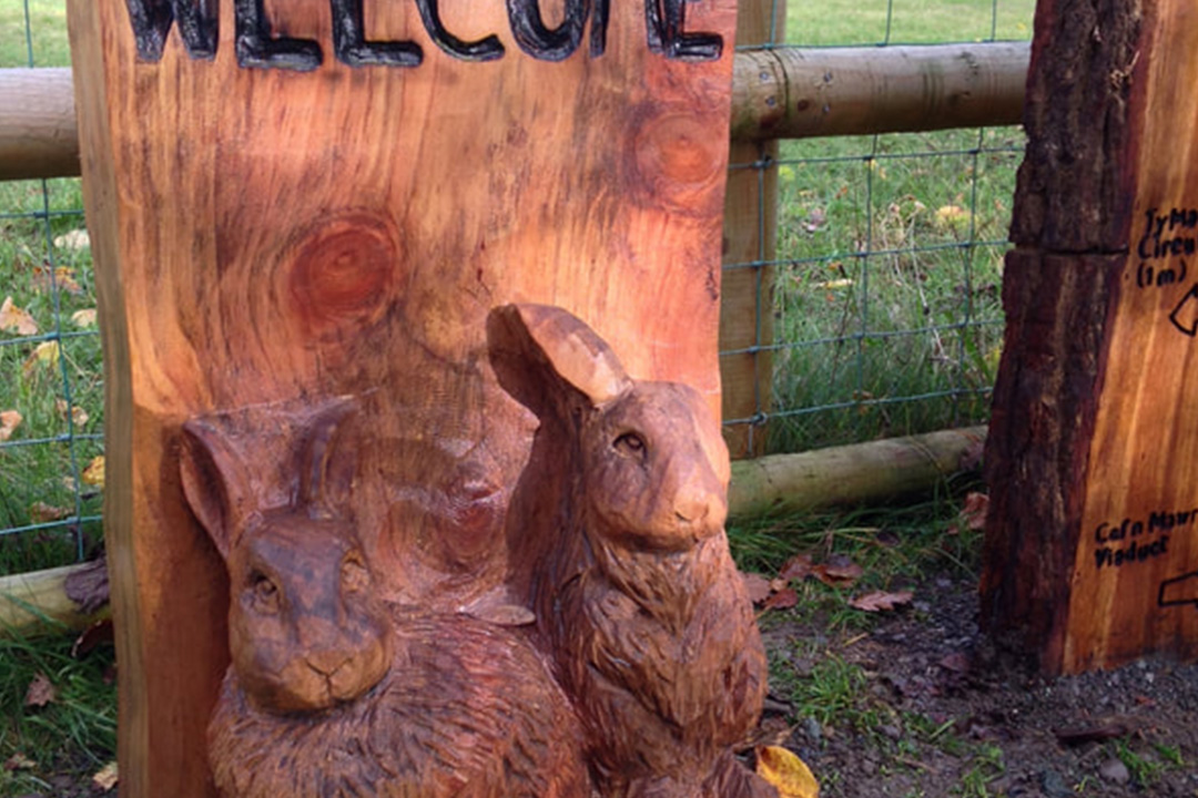 Rabbit carving